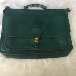 Rare green vintage Coach briefcase